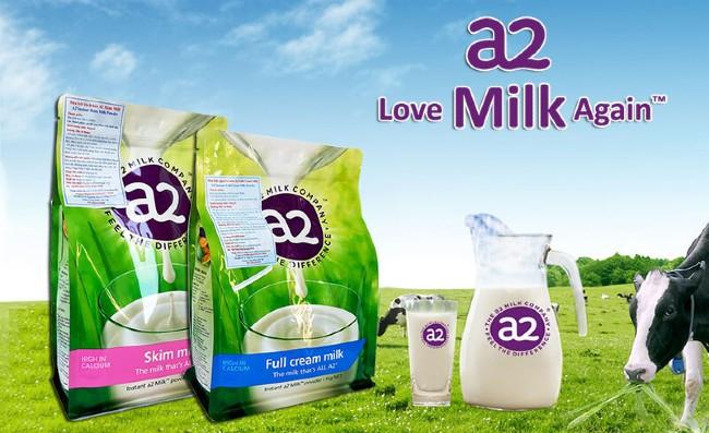 Sữa A2 tách béo bổ sung canxi của Úc