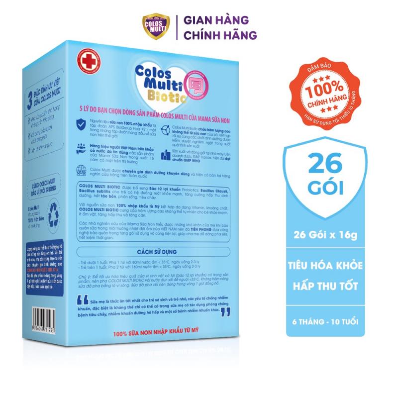 Sữa bột cho bé Colosmulti Biotic, sữa công thức chuyên biệt cho trẻ táo bón, tiêu hóa kém