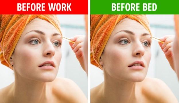 Sửa lông mày trước khi trang điểm