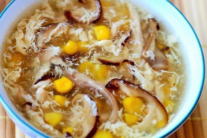 Súp trứng gà ngô non, nấm nhĩ