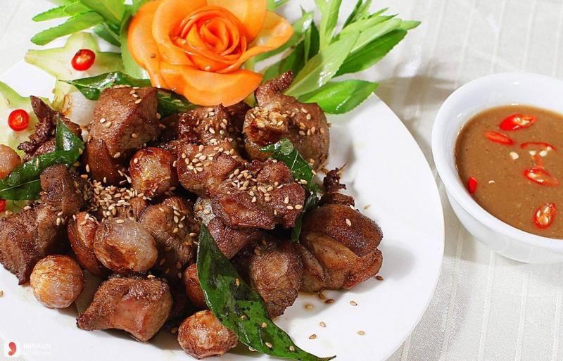 Thịt dê nướng sa tế