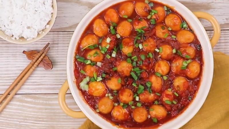 Trứng cút xốt cà chua