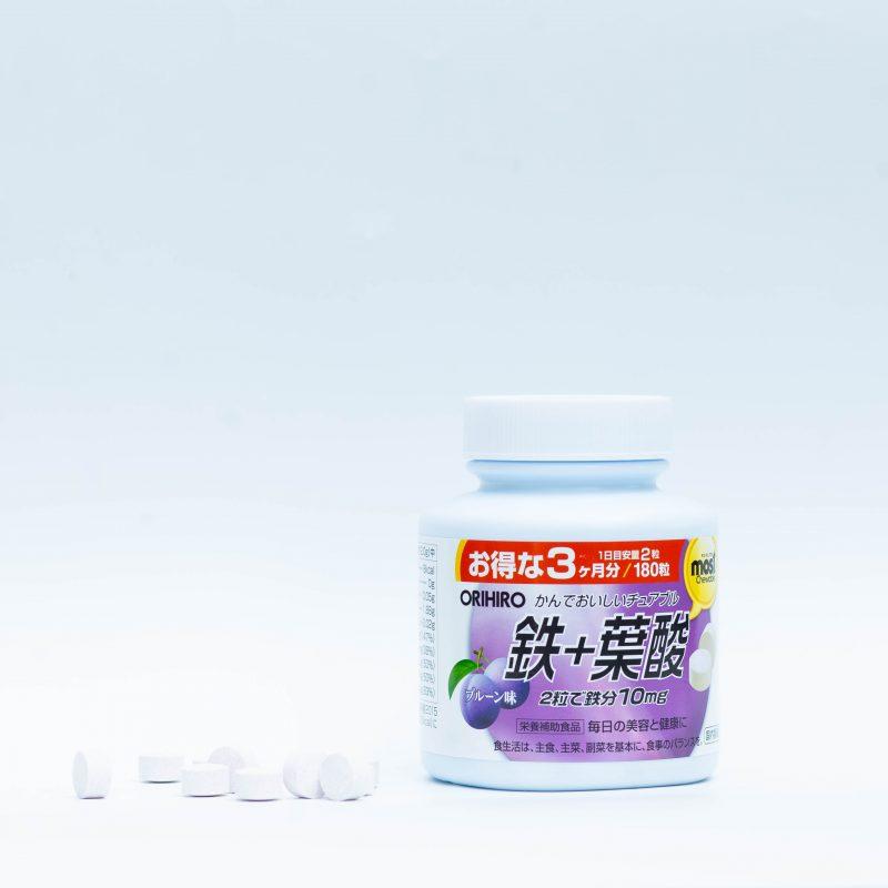 Acid Folic Orihiro Most Chewable Iron Nhật Bản