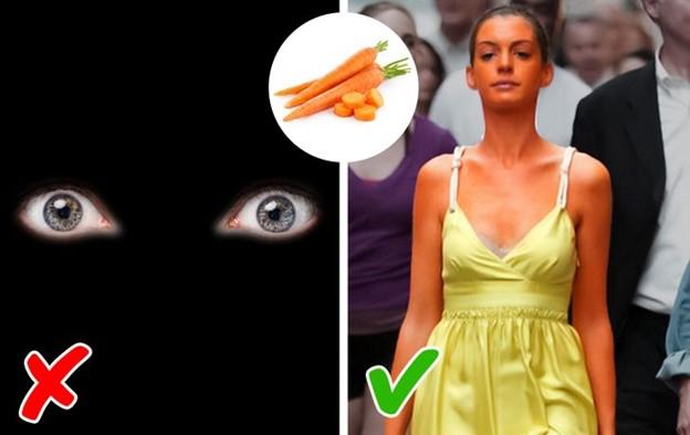 Ăn nhiều cà rốt vì chúng có thể giúp bạn nhìn tốt hơn trong bóng tối
