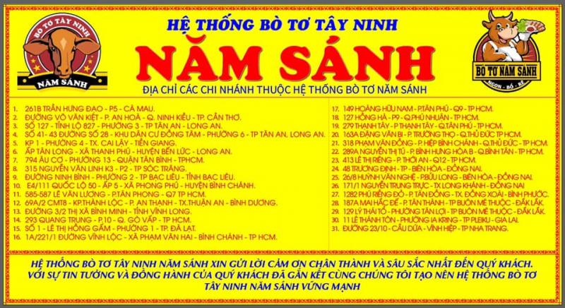 Bò tơ Tây Ninh - Năm Sánh