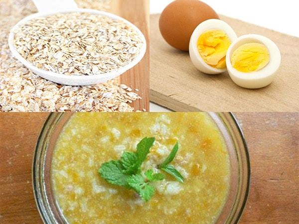 Cách nấu cháo yến mạch trứng cho bé ăn dặm