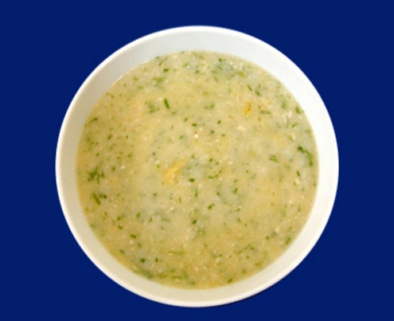 Cháo cá thu nấu có khoai tây