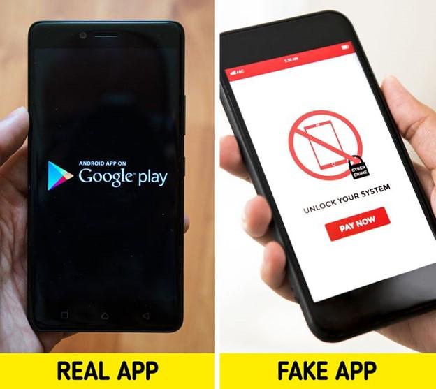 Chỉ tải xuống ứng dụng từ Apple hoặc Cửa hàng Google Play