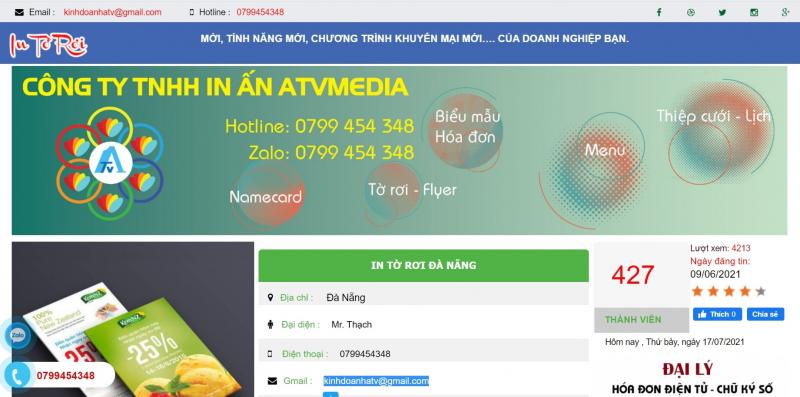 Công ty TNHH in ấn ATVMEDIA