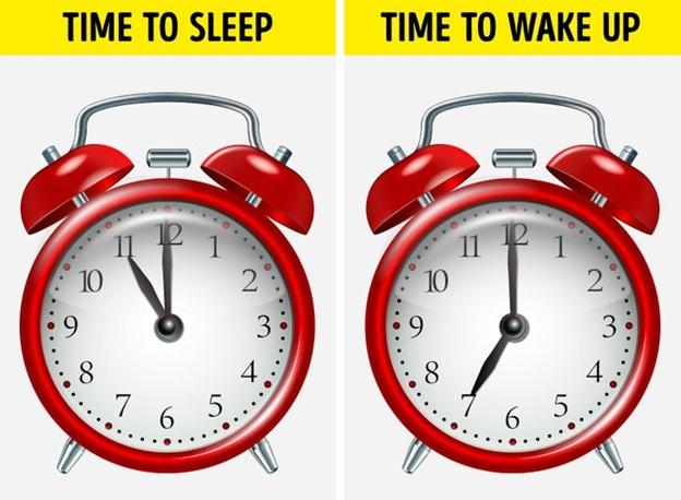 Đi ngủ và thức dậy cùng một khung thời gian hàng ngày