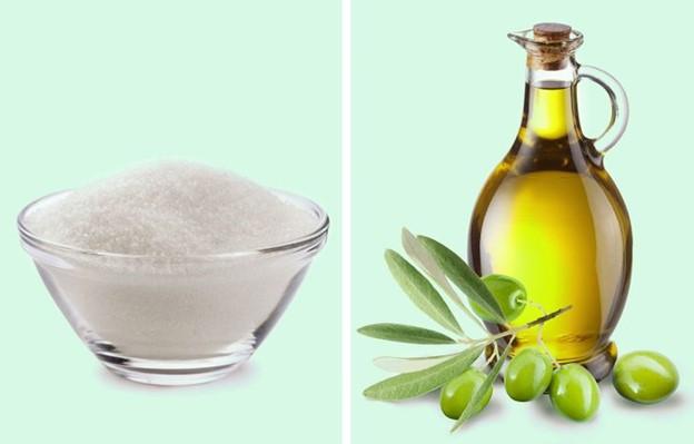 Đường và dầu oliu