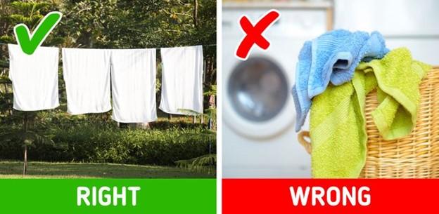 Giữ các loại khăn trong phòng tắm luôn khô ráo