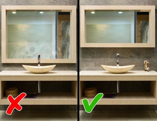 Gương lớn trong phòng tắm