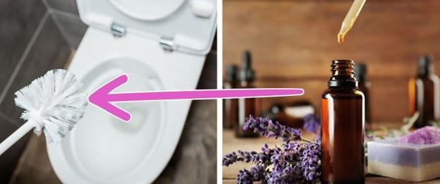 Làm tinh dầu thơm cho cọ rửa nhà vệ sinh