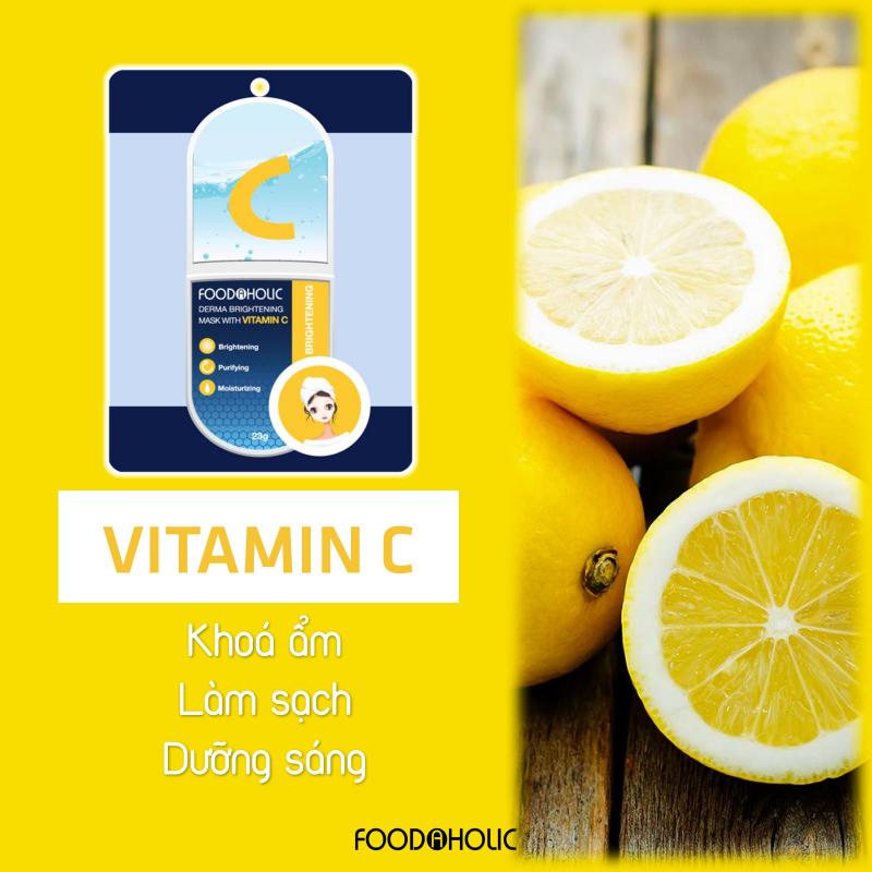 Mặt nạ tinh chất Vitamin C Foodaholic Derma Brightening Mask