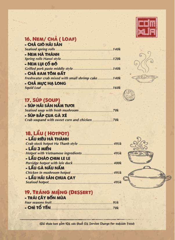 Nhà hàng Cơm Xưa