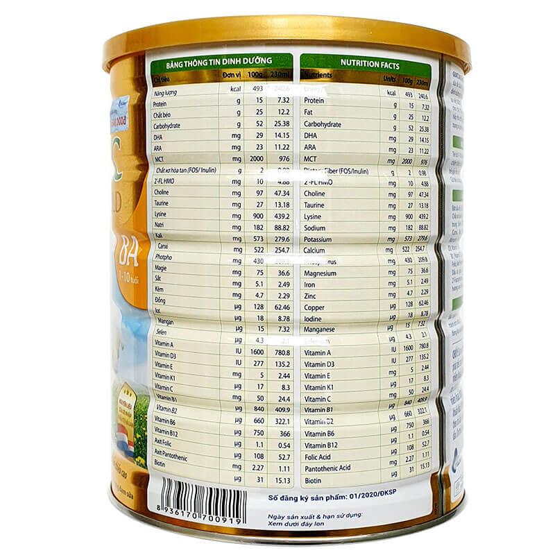 Sữa Dê GOATLAC Gold BA (trẻ biếng ăn 1-10 tuổi)