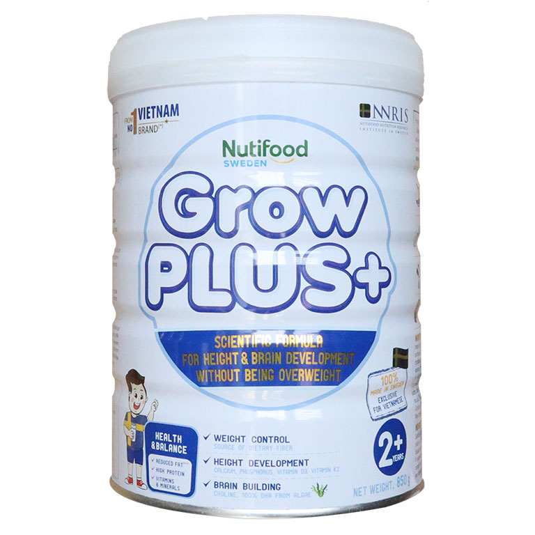 Sữa Nuti Grow Plus+ trắng