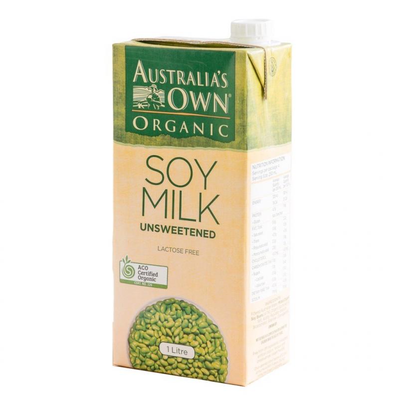 Sữa hạt đậu nành không đường Organic Australia's Own