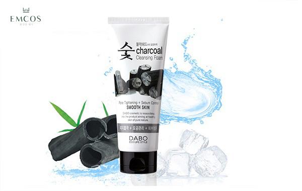Sữa rửa mặt than hoạt tính Dabo Charcoal Cleansing Foam