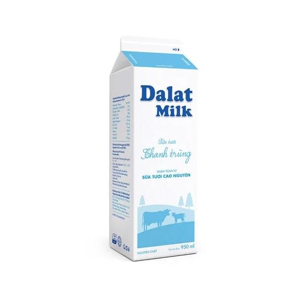 Sữa thanh trùng Dalat Milk không đường