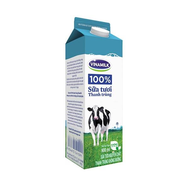 Sữa tươi thanh trùng Vinamilk 100% Không đường