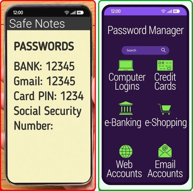 Tải ứng dụng quản lý mật khẩu để lưu trữ mật khẩu của bạn trong điện thoại di động