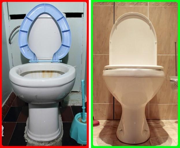 Toilet và sàn nhà vệ sinh, nhà tắm