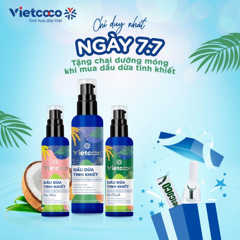 Trị rạn da sau sinh với dầu dừa Vietcoco
