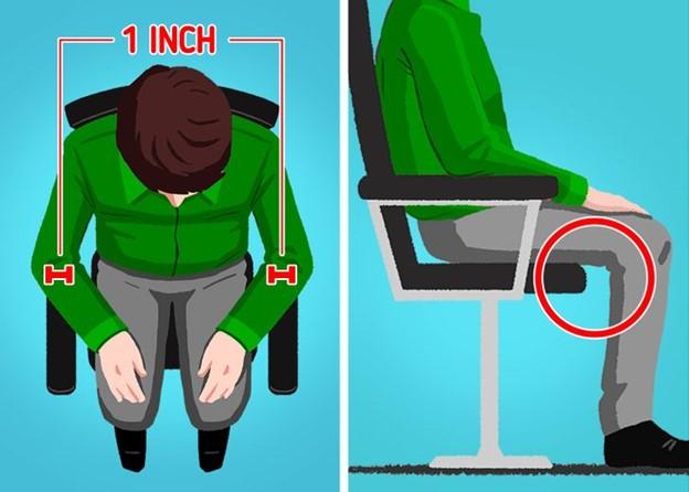 Đảm bảo rằng chiếc ghế bạn ngồi phải phù hợp