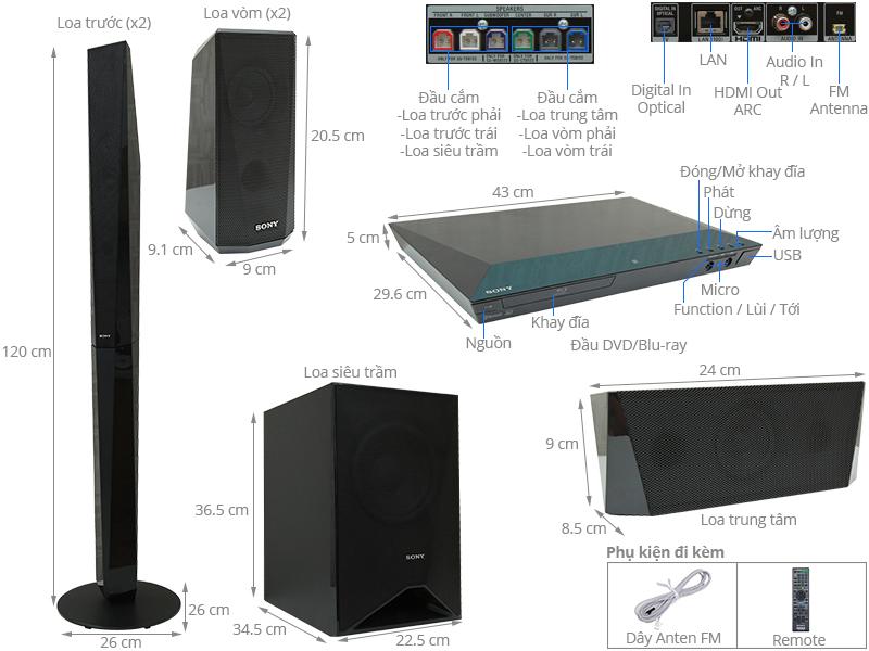 Dàn âm thanh Sony 51 BDV-E4100 1000W