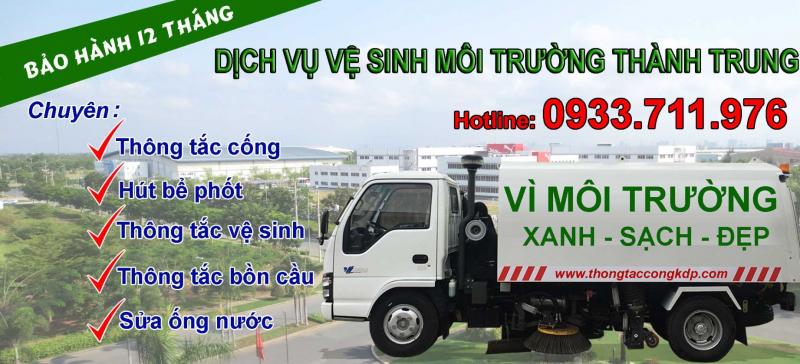 Dịch vụ hút hầm cầu quận Cầu Giấy Hà Nội Thành Trung