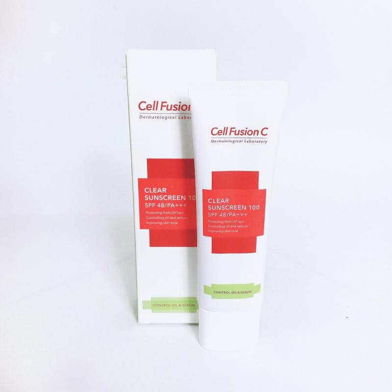 Kem Chống Nắng Kiểm Soát Dầu & Nhờn Cell Fusion C Clear Sunscreen 100 SPF 48/PA+++