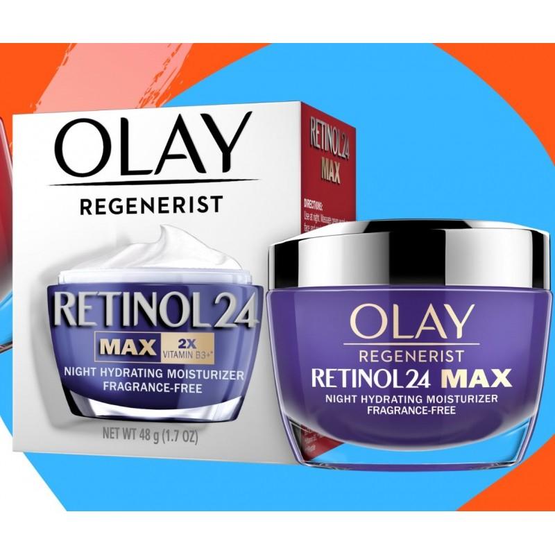 Kem Dưỡng Ẩm Đêm Olay Regenerist Retinol 24 Night Moisturiser Fragrance-Free