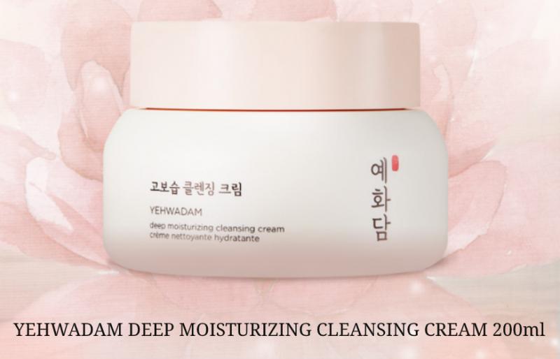 Kem Tẩy Trang Dịu Nhẹ YEHWADAM DEEP MOISTURIZING CLEANSING CREAM 200ml