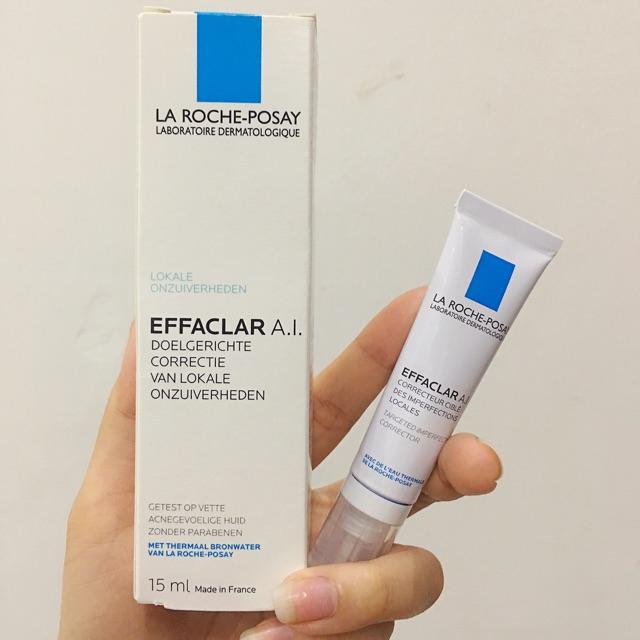 Kem giảm mụn chuyên biệt La Roche-Posay Effaclar AI 15ml