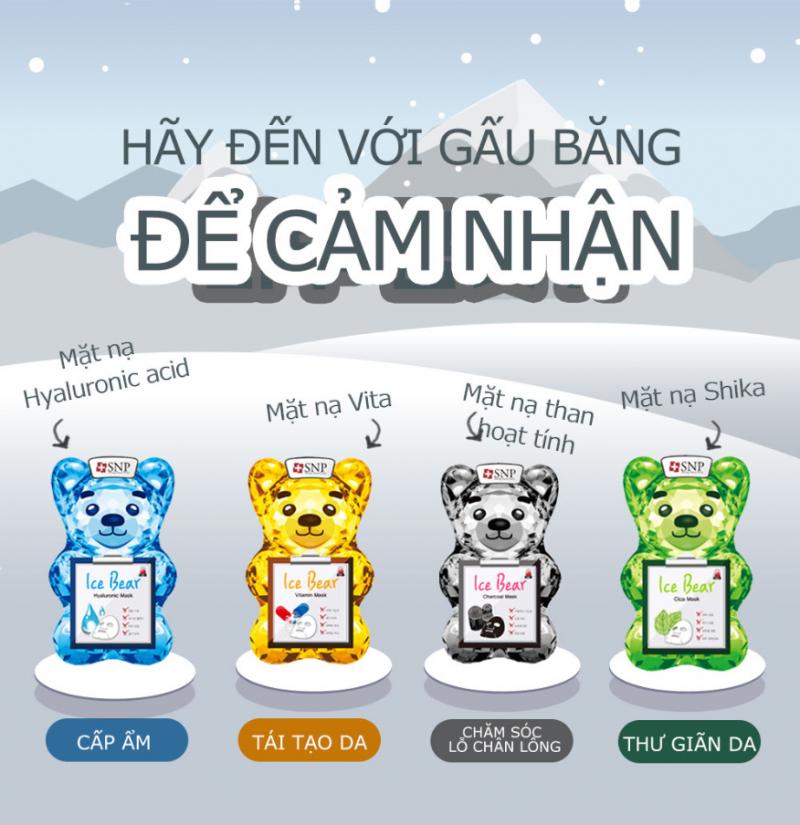 Mặt Nạ Gấu Băng SNP Ice Bear Mask