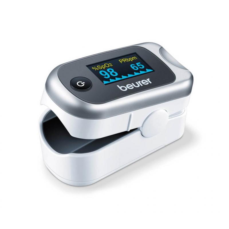 Máy đo nồng độ oxy trong máu SpO2 và nhịp tim Beurer PO40
