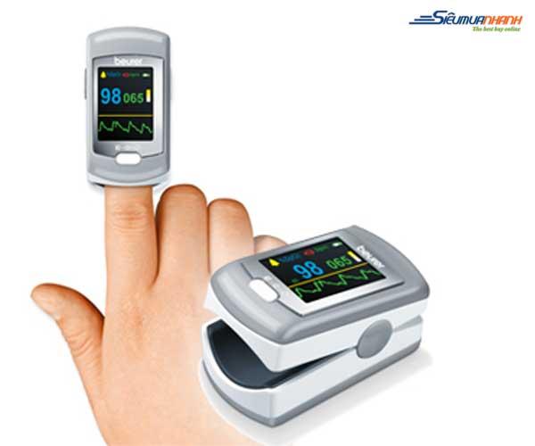 Máy đo nồng độ oxy trong máu SpO2 và nhịp tim Beurer PO80