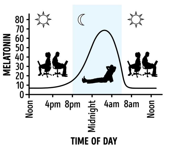 Mức độ melatonin trong cơ thể bạn thay đổi
