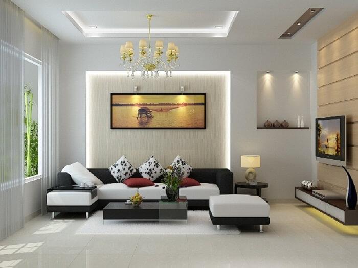 Nên sử dụng tông màu sáng hoặc trung tính cho khu vực sinh hoạt chung