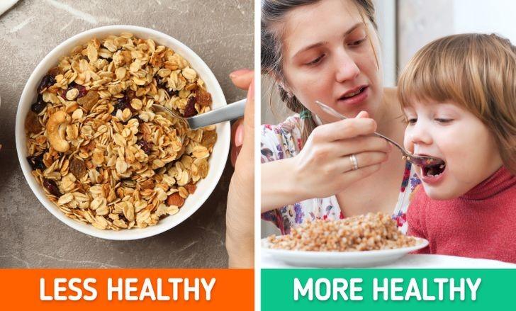 Ngũ cốc lạnh và  bánh granola