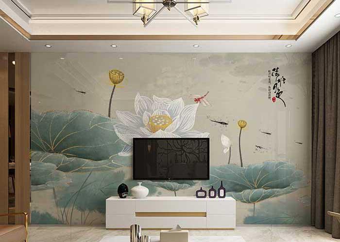 Những bức tường họa tiết