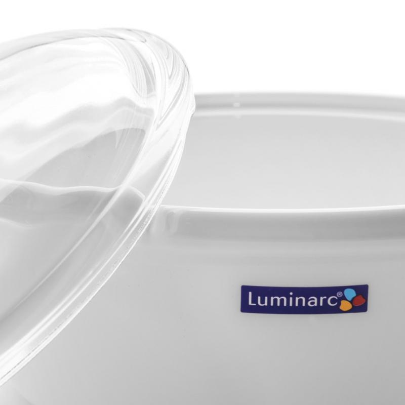 Nồi thủy tinh Luminarc Vitro Blooming White đáy từ 5L J0853