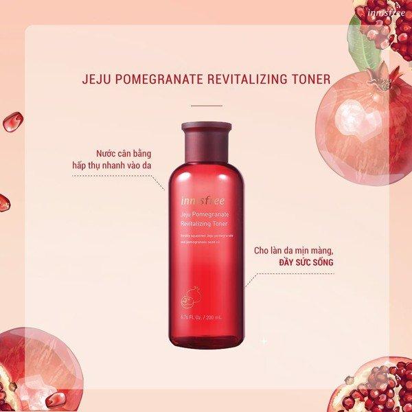 Nước Cân Bằng Ngăn Ngừa Lão Hóa Từ Lựu Innisfree Jeju Pomegranate Revitalizing Toner (200ml)