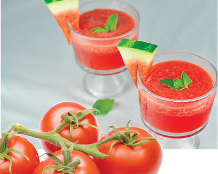 Nước ép cà chua dưa hấu: