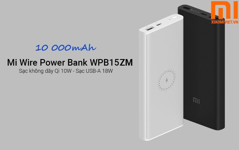 Pin Sạc Dự Phòng Không Dây Xiaomi Mi Power Bank Wireless WPB15ZM