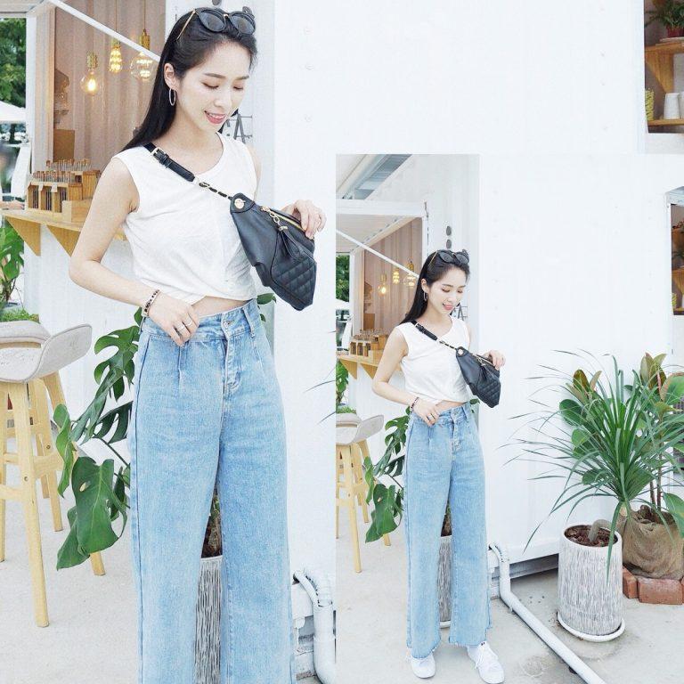 Quần Jean kết hợp với áo croptop