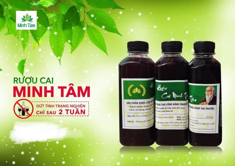 Sản phẩm cai rượu Minh Tâm
