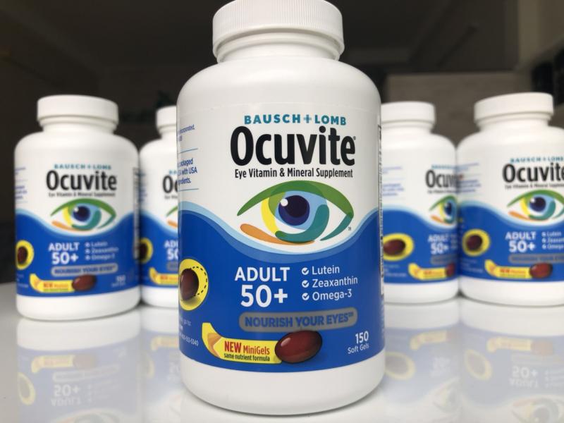 Thuốc bổ mắt cho người già Ocuvite Adult 50+